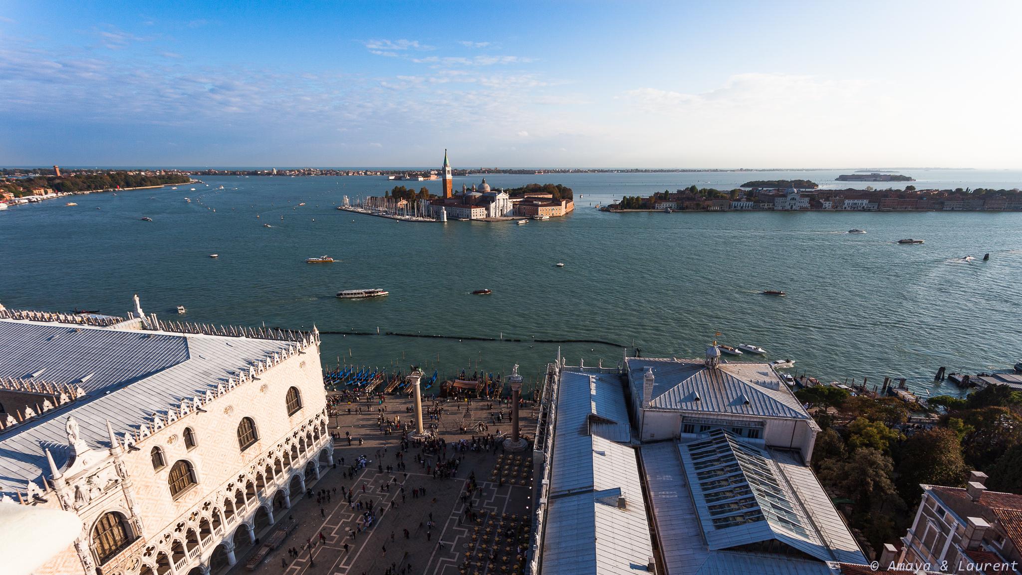 Palais des Doges et san Giorgio en face (vue du campanile)p